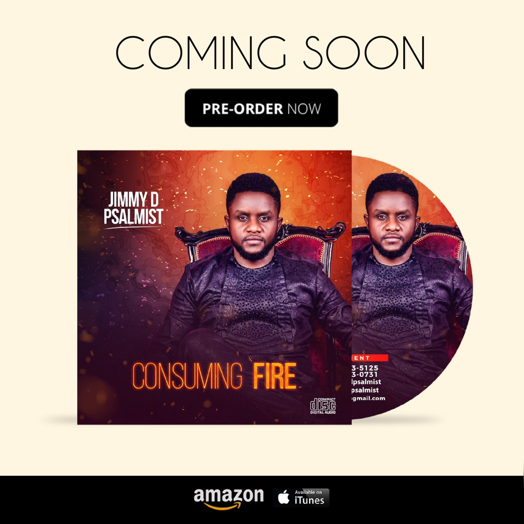 Jimmy D Psalmist New album Consuming Fire