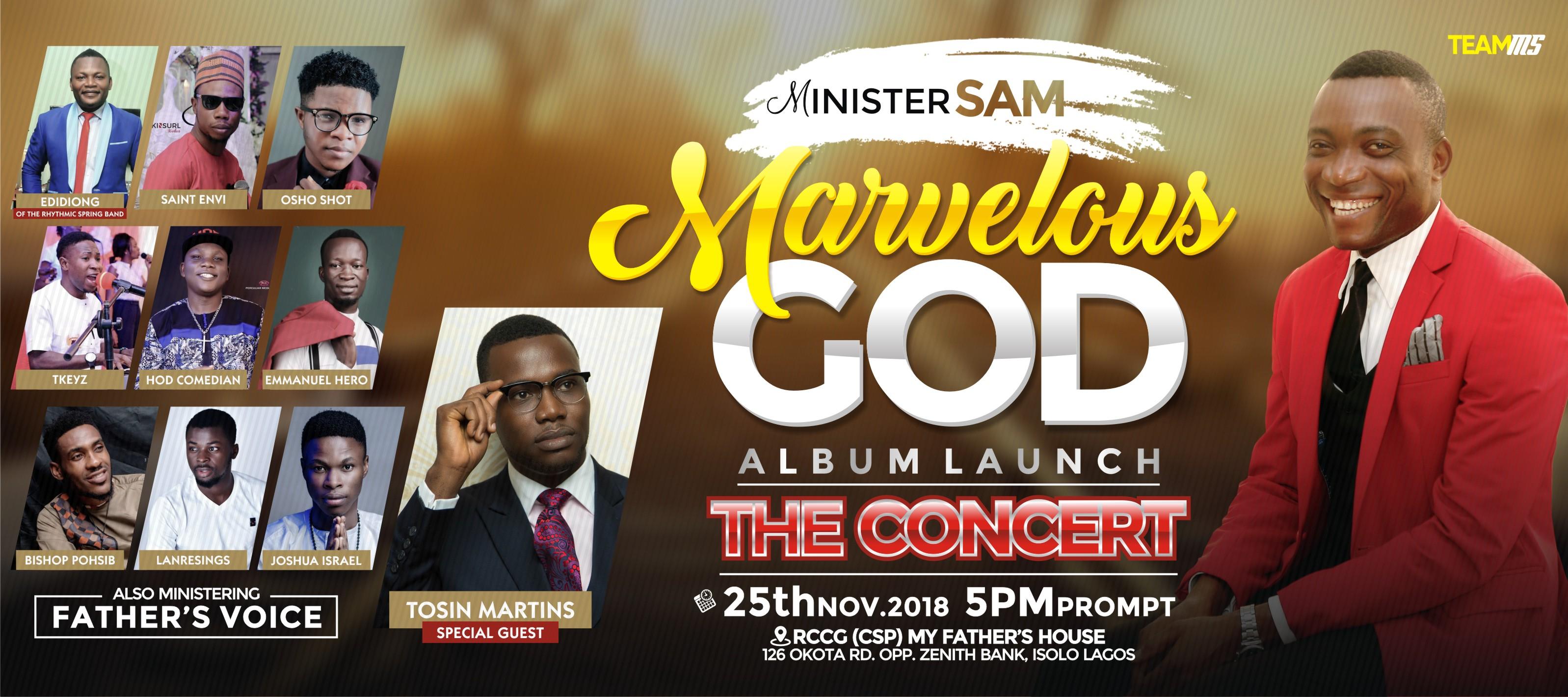 minister sam marvelous god