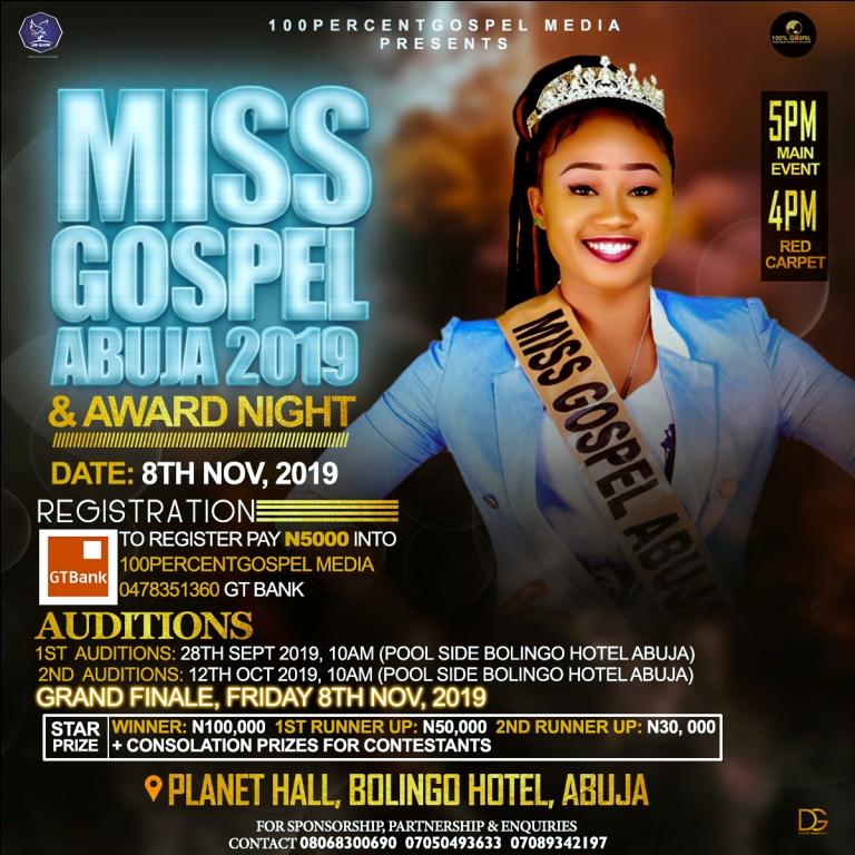 Miss Gospel Abuja 2019