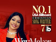 Sinach No1 On Billboard